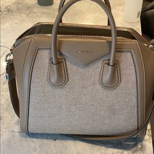 Givenchy Medium leather and virgin wool sand/taupe